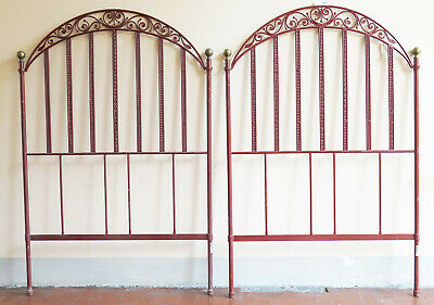 2 Headboards by Bed Single or Double Size Bed Header Bed Iron Wrought a Hand 8