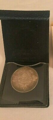 1867-1967 Canada Confederation Sterling Silver Medallion In Holder Case