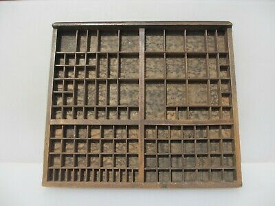 Vintage Wooden Printers Drawer Storage Tray Compartments Vintage Old Stamp Wood