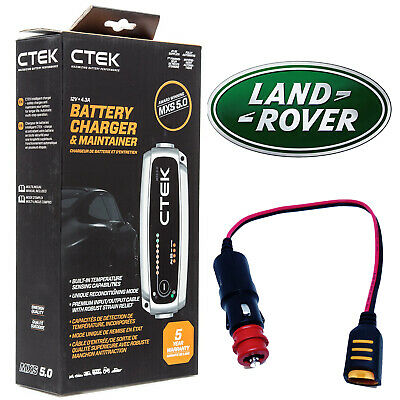 Land Rover CTEK MXS 5.0 Battery Charger Tender Conditioner & Adapter
