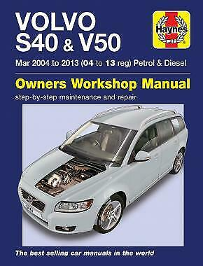 Haynes Manual Volvo S40 V50 2004 - 2013 6443 NEW