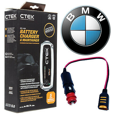 BMW CTEK MXS 5.0 Battery Charger Tender Conditioner & Adapter