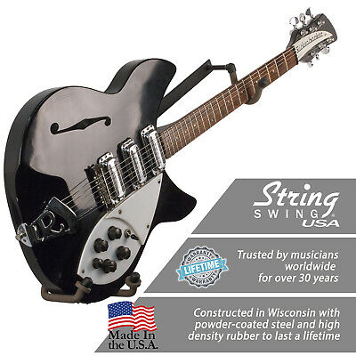 Wall Mount Guitar Hanger Horizontal Holder- Electric - String Swing CC151-LPN-FW