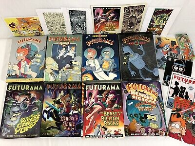Futurama DVD Gift Lot Volumes 1-4: The Complete Series + 4 Extras + Post Cards