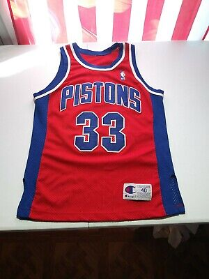 best website 2cd1f 0a58f VINTAGE AUTHENTIC GRANT Hill Detroit Pistons Champion Jersey 40 M SEWN