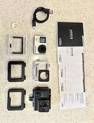 Go Pro Hero 4 Black Edition Gopro Action Cam + Custodie Cavo Sicurezza