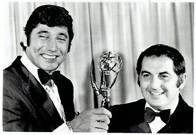 1969 Wire Photo QB Joe Namath presents TV Academy Awards Emmy to Andy Sidaris