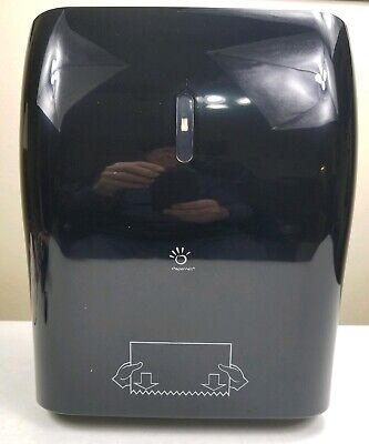 Papernet Black No-Touch Mechanical Roll 8.1 Inch Towel Dispenser 416008
