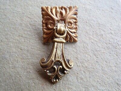 1 French Provincial Chippendale Brass Drop Pull Drawer Pull Antique Hardware