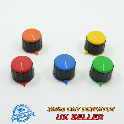 Plastic Rotary Knob 6mm Volume Control Potentiometer Diam 21.4mm Sound Switch