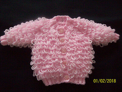 Newborn Pale Pink Loopy Cardigan
