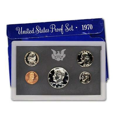 1970 S PR GEM BU PROOF SET BRILLIANT UNCIRCULATED 5 COIN UNITED STATES US silver