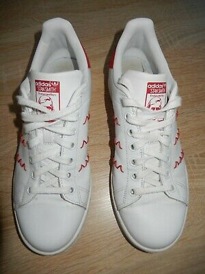 ADIDAS STAN SMITH Limited Edition Schuhe Sneaker weiß rot Gr. 38 23 US 7 UK 5,5