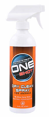 One Shot Dry Clean Spray for Animasl Dogs Safely lift dirt without drying 16oz
