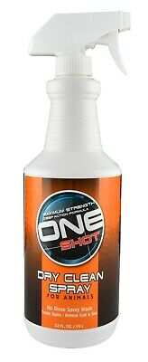 One Shot Dry Clean Spray for Animals Dogs Safely lift dirt without drying 32oz