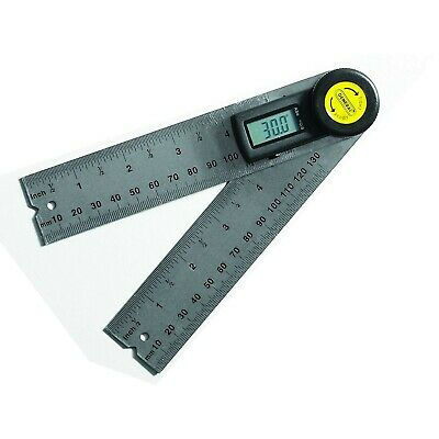 Digital Angle Finder Ruler Stainless Steel Batteries Carpenter 360 Degrees 5 In.