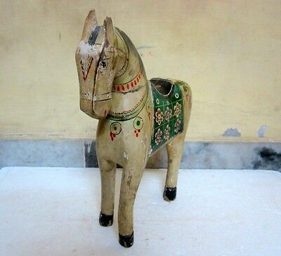 Vintage Decorative Collectible Hand Crafted &  Panted  Wooden  Horse