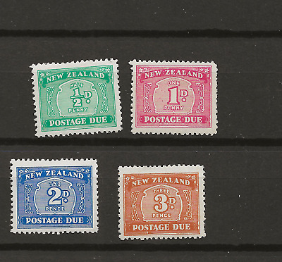 New  Zealand   Postage  Due   Set  Of  4   Sg
