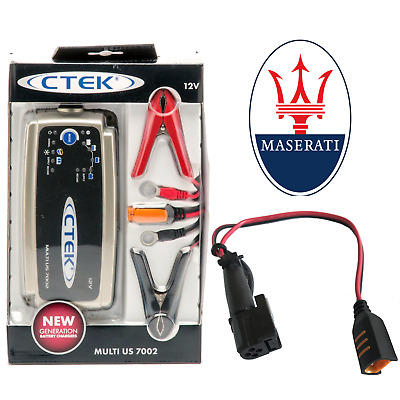 Maserati 7A Battery Charger & Custom Adapter GT GranTurismo Quattroporte