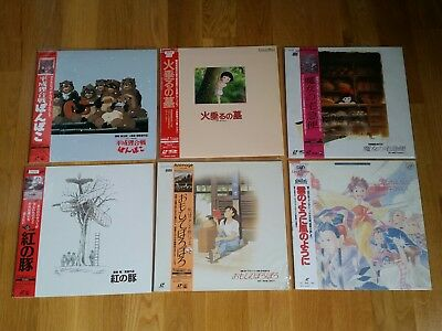 6 LD Box Laserdisc Ghibli Movie anime manga laser disc JP Porco Kiki Yesterday