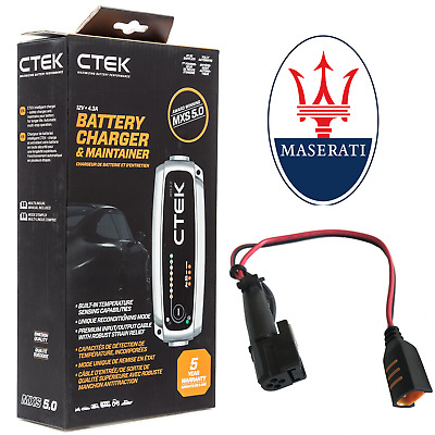 Maserati CTEK MXS 5.0 Battery Charger and Adapter GT GranTurismo Quattroporte