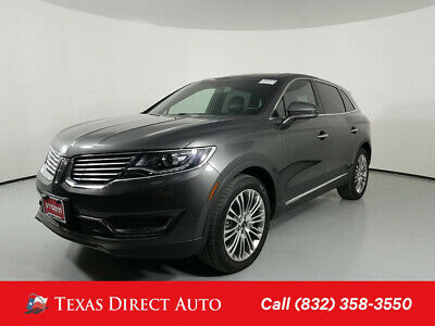 2017 Lincoln MKX Reserve Texas Direct Auto 2017 Reserve Used 3.7L V6 24V Automatic FWD SUV Moonroof