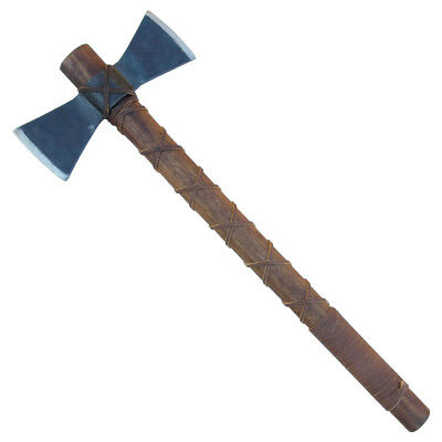 Hand Forged Fury of Atla Viking Double Headed Outdoor Battle Axe