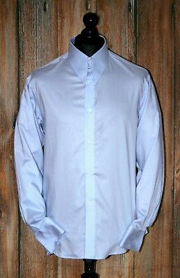 4f09d8a173fc16 Mens Spear point collar Brand New 1960s Shirt Power Blue With Tab Collar  Cotton