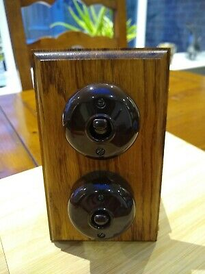 Reproduction (modern) 2 gang toggle light switch 2 way, Vintage retro 1