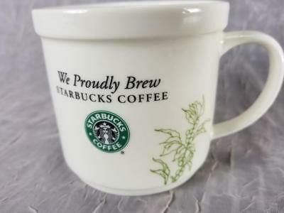 We Proudly Brew Starbucks Coffee Cup Vines of Coffee Beans Design 2008 12oz