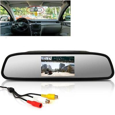 "4.3"" TFT LCD Color Monitor Car Reverse Rear View Mirror for Backup Camera FZ"