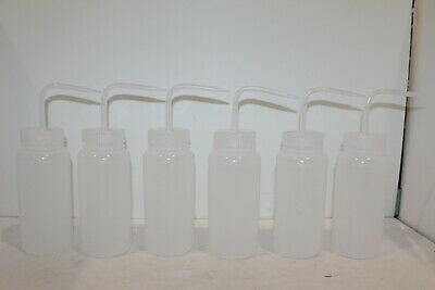 Bel-Art Wide-Mouth 500ml (16oz) Polyethylene Wash Bottles; 6 Pack Ships from USA