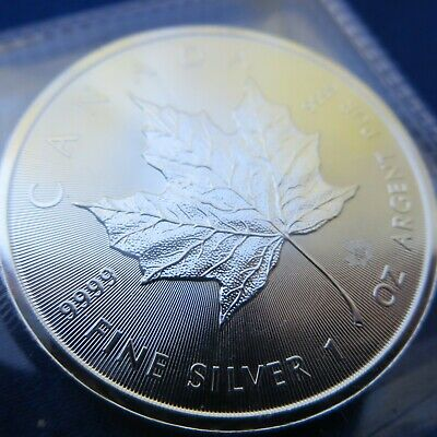 Royal Canadian Mint Silver Maple Leaf 1 oz .9999 Fine Silver Coin Uncirculated