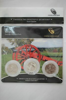 2015 US Mint Saratoga National Historical Park ATB Quarters - 3 Coin Set Sealed