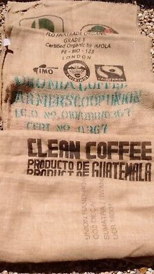 Two Hessian/ Jute Coffee Sacks
