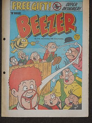 The Beezer Comic 22nd October 1988 (Issue 1710)