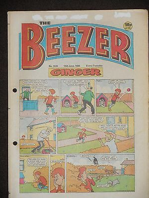 The Beezer Comic 15th June 1985 (Issue 1535)
