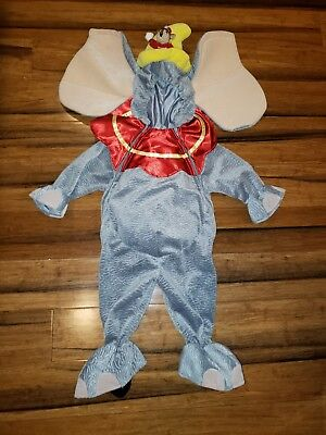 EUC Disney Store DUMBO Costume 12M Elephant Baby Toddler Child Halloween