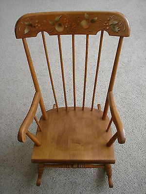 Vintage Oak Hill Child's  Rocking Chair  Made In Usa Excellent