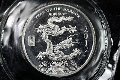 2012 - Year Of The Dragon Coin 1/2 Troy Oz .999 Fine Silver Round!!  #H14774