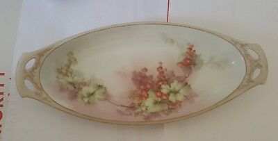 Porcelain RS Germany Celery Dish. Antique. Hand Painted