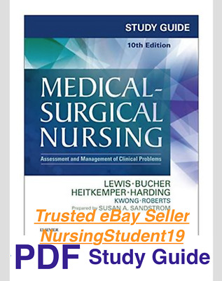 STUDY GUIDE for Lewis Medical Surgical Nursing Assessment 10th Tenth Edition PDF