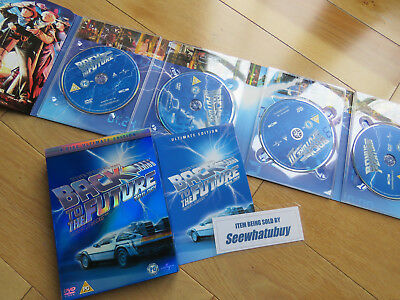 Back To The Future Trilogy * Ultimate Edition 4 Disc Dvd Set - Vgc
