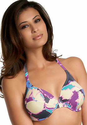 Fantasie Martinique Halterneck Bikini Top 5254 Underwired Swimwear Orchid