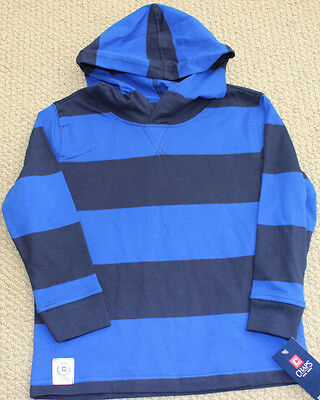 Chaps Ralph Lauren Hoodie 12 M Top Tee Shirt  Boy's Blue Long Sleeve NWT