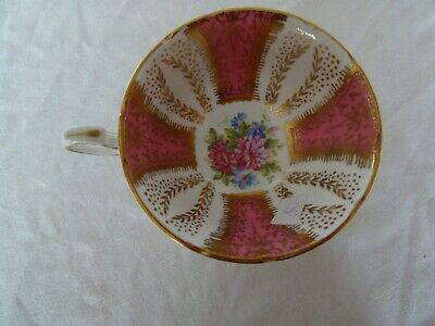 Paragon Bone China England Pink, White & Gold Floral Tea Cup Only