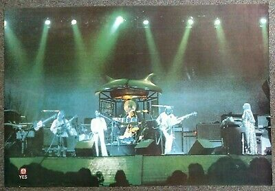 Yes Live On Stage VINTAGE POSTER Jon Anderson Rick Wakeman Chris Squire
