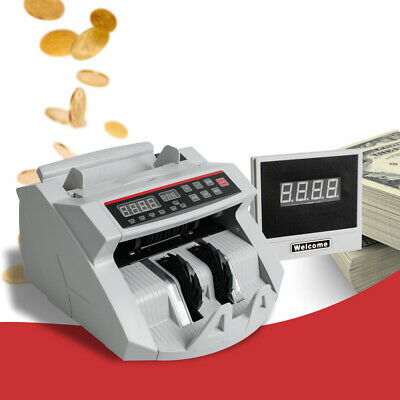 Money Bill Cash Currency Counter Counting Machine Counterfeit Detector UV/MG USA