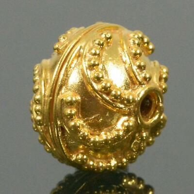 9.70 mm Gold Vermeil Sterling Silver Bali Granulation Bead 24K Gold-Plated 1.60g