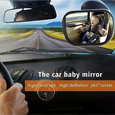 360°Adjustable Large Wide Car Rear View Back Seat Baby Child Kid Safety Mirror